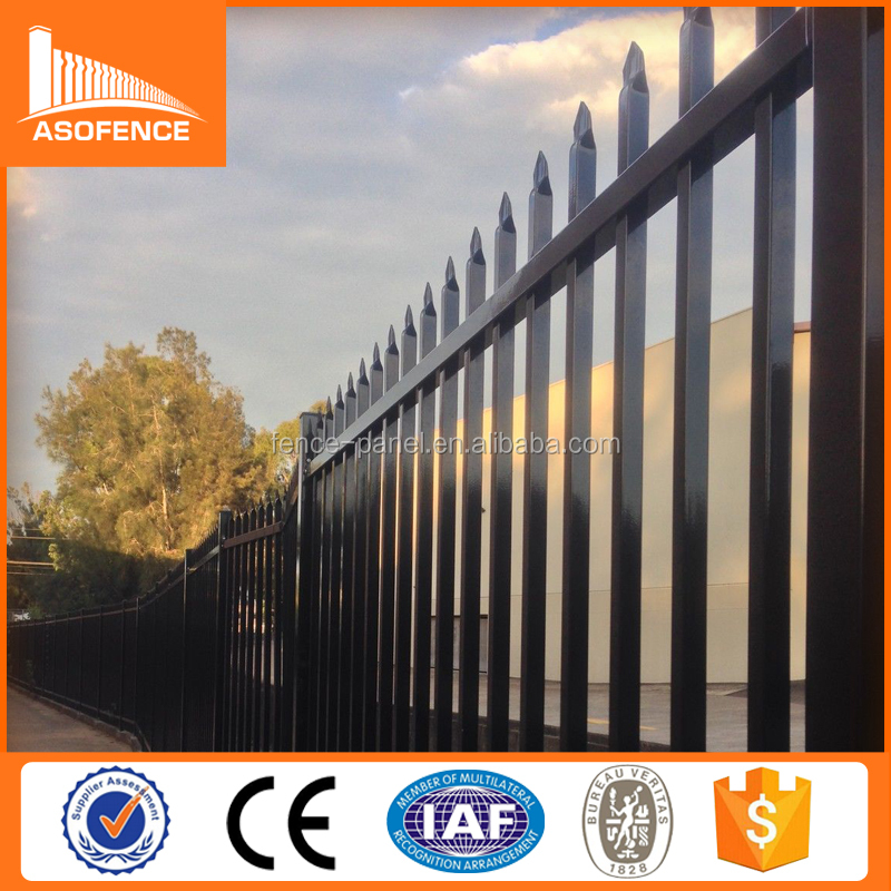 Perth 2.1m x 2.4m tubular steel Security diplomat fence / Black diplomatic fence