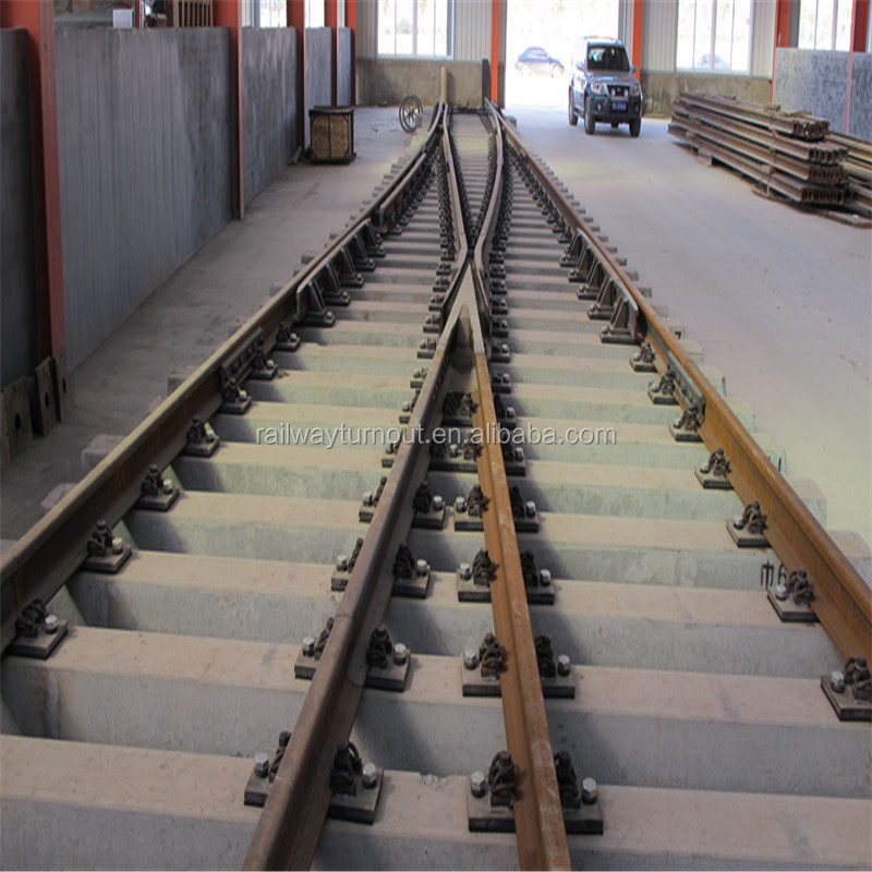 China supplier Rail Switches for Passenger/Freight/Mining Railway Construction switch turnout