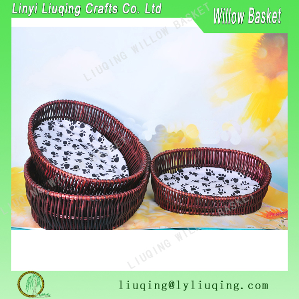 Factory wholesale handmade basket weaving Wicker rattan dog beds / Wicker baskets for dogs / Snuggle beds for dogs