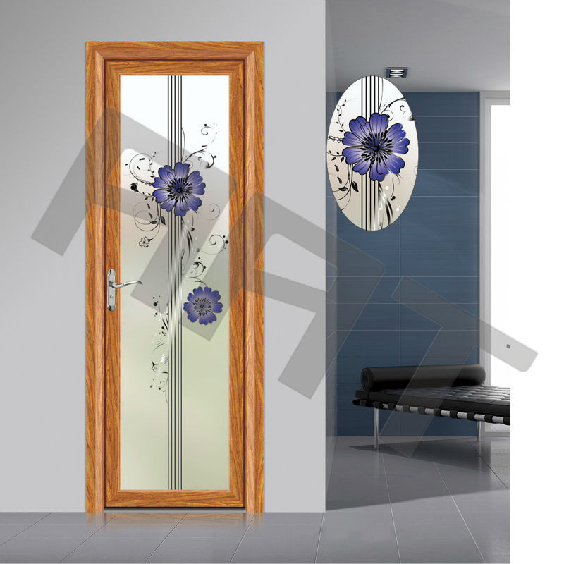 new design bathroom main aluminum door model 254