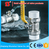 PPR Brass Ball Valve ppr pipe ppr fitting from yuhuan shunshui valve factory