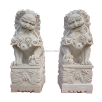 cheap Marketable white marble hand carved lion statue