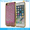 Luxury Glitter Shockproof TPU Bling Diamond Case Cover Plating Bumper For iPhone 7