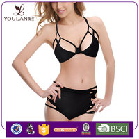 Professional lingerie swimwear black halter women sexi hot girls bikini