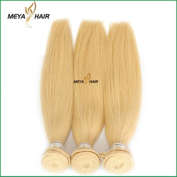 Most fashionable 100% blond virgin hair straight hair extension in mozambique