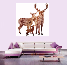 Simple modern high definition printing canvas without frame animal elk decorative painting