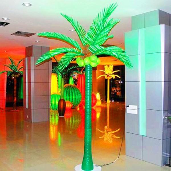 Cocotier led lumineux ext rieur d cors arbres artificiels for Arbres lumineux exterieur