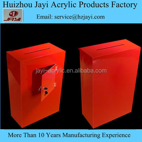 China acrylic donation collection box,acrylic collecter box, clear acrylic collection box