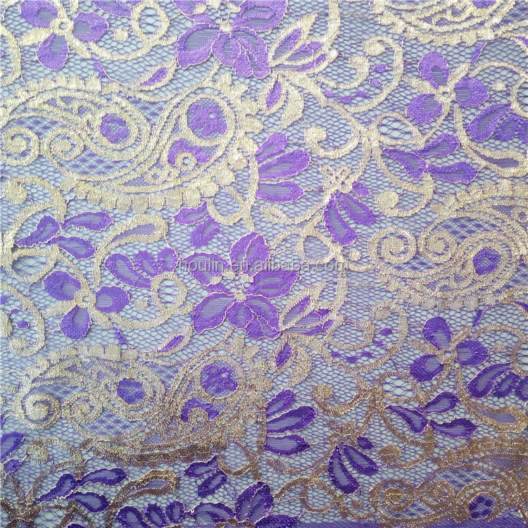 S1469 most popular new design have a good touch with gold african textile lace fabric