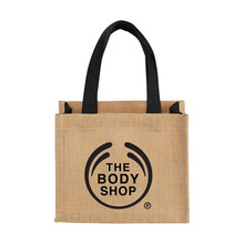 Promotional Mini Jute Gift Tote bags with Double 12.5'' Handles