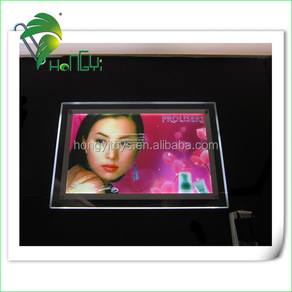 Acrylic led light box with various custom advertising