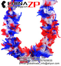 Top class quality turkey plumes wholesale Dyed bulk Patriotic Chandelle feather boas for sale