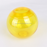 Ball shape plastic drinking cups with straws