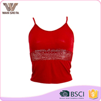 Comfortable lift up bust red ladies wholesale hot girl sexy bulk camisole tops