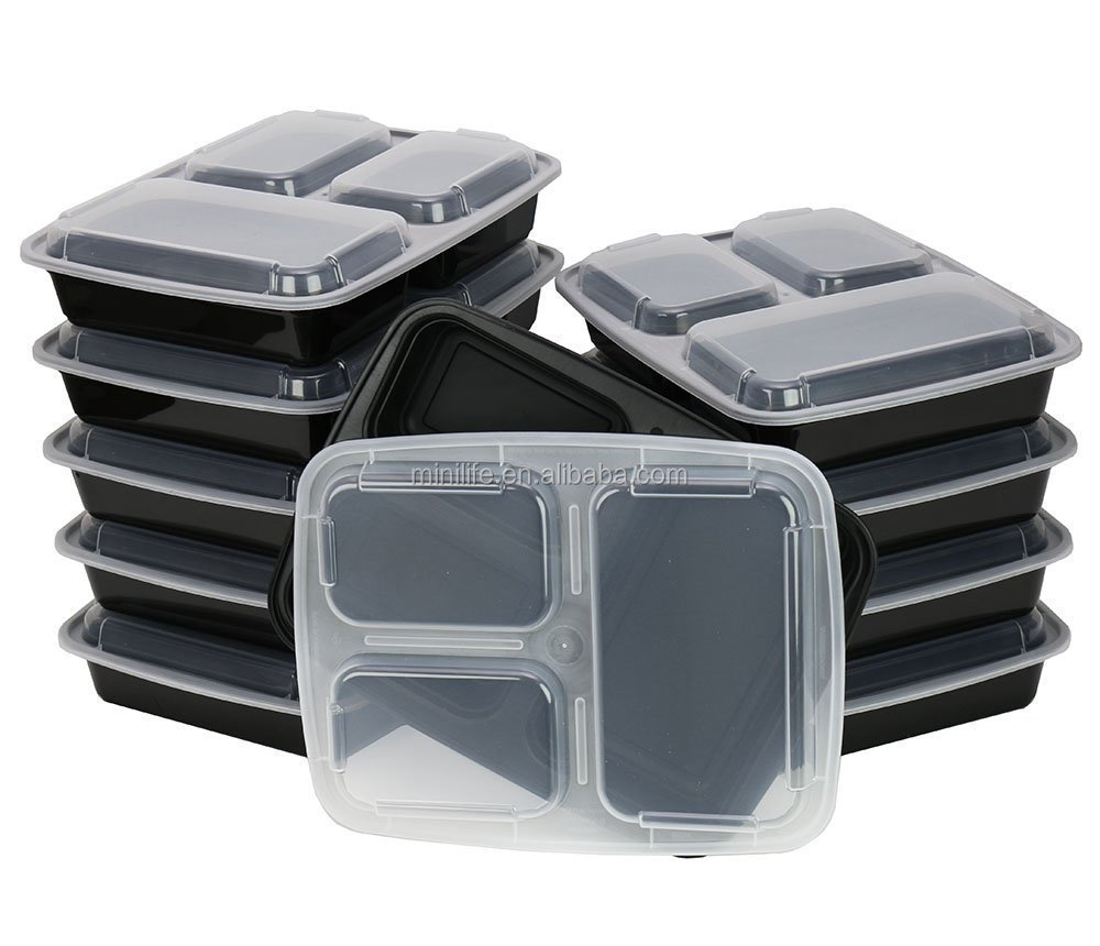 """Bento Private Label Label 4compartments Plastic Disposable 450ml Food Container 4 5 Compartment Lunch Box"""