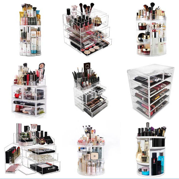 Wholesale top quality customized makeup acrylic organizer