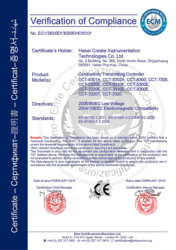 Industrial Online Conductivity Controller Cct-8301a - Buy Online ...