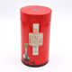 150G hot sale round tea canister metal tin can with double lid