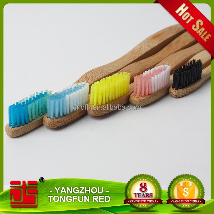 Biodegradable wholesale natural bristle cheap bamboo toothbrush china