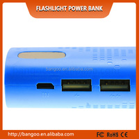 Any logo can be customized portable power bank with free usb cable