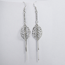 new designed leaf shape charms silver plated oem earring castings