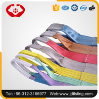 Rigging lifting flat sling/belt with high safety factor