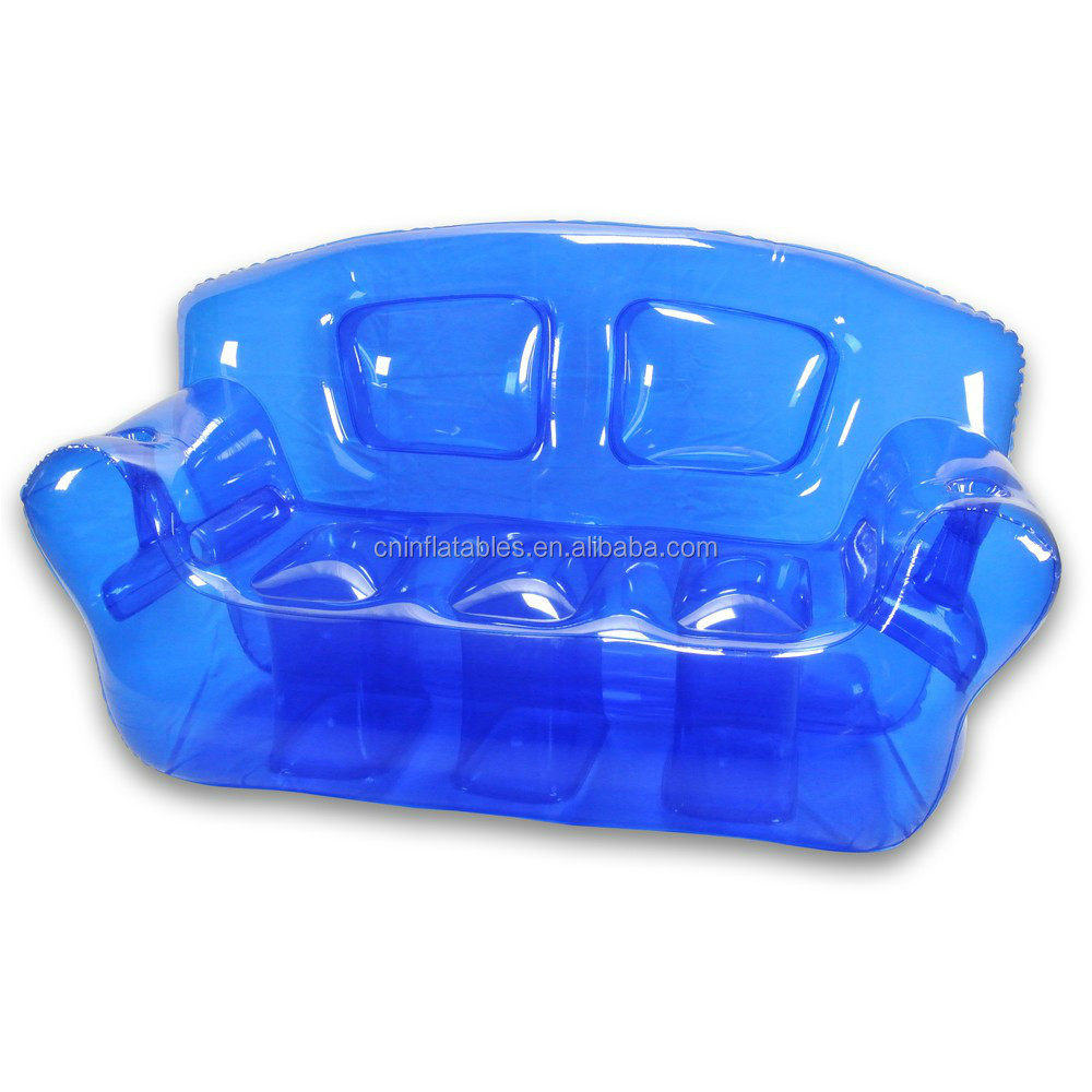 popular colorful transparent inflatable sofa/chair for sale
