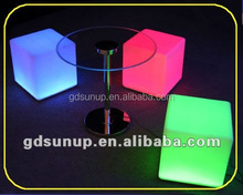led light direct rechargeable colors changing plastic led light cube chair /seat for the party event use