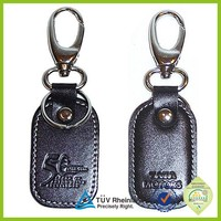 New products 2014 leather keychains manufacturers genuine leather keyring