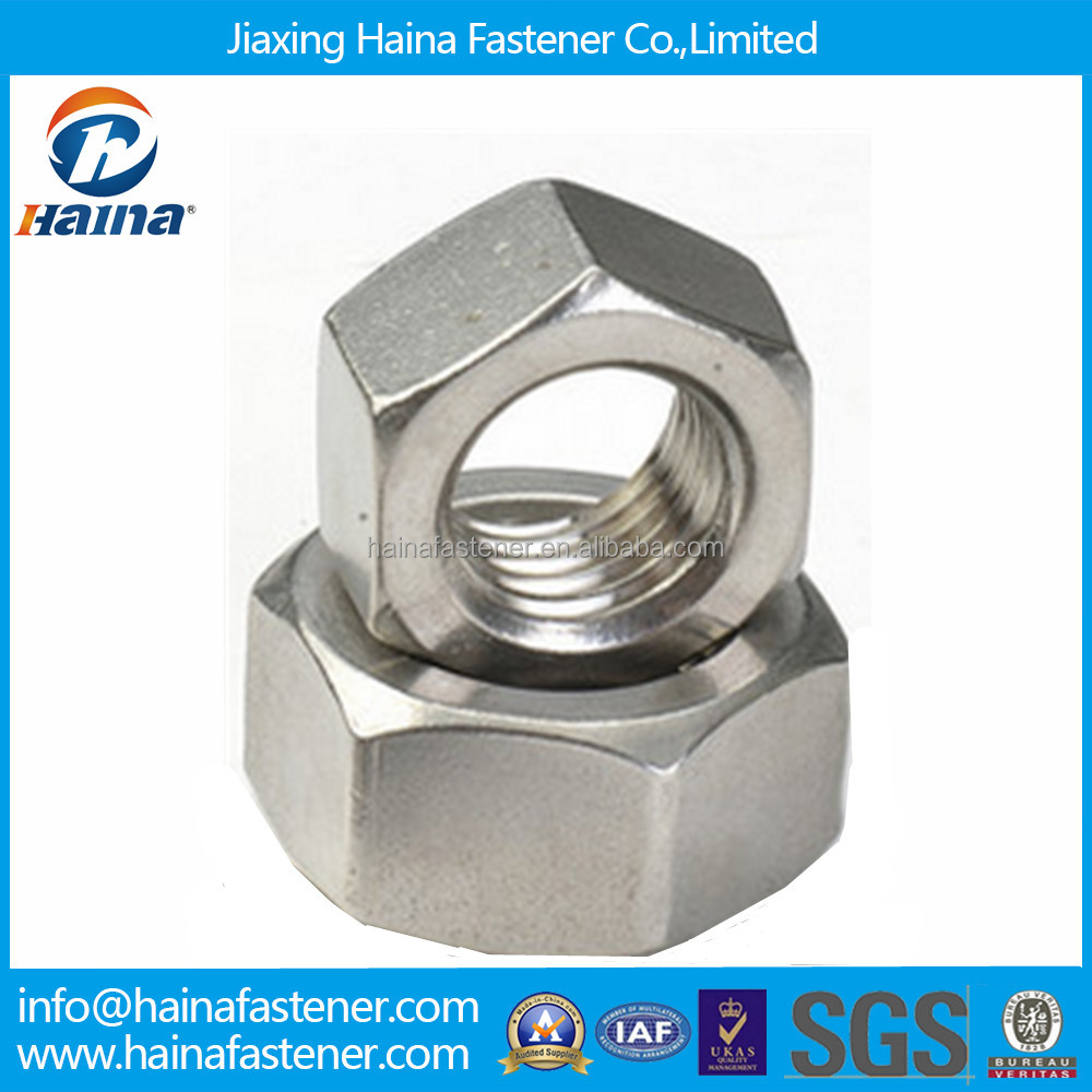 DIN934 Stock ss316 ss304 ss317 stainless steel hex Nut