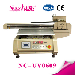 Factory selling a1 print size inkjet uv led flatbed digital leather printer machine