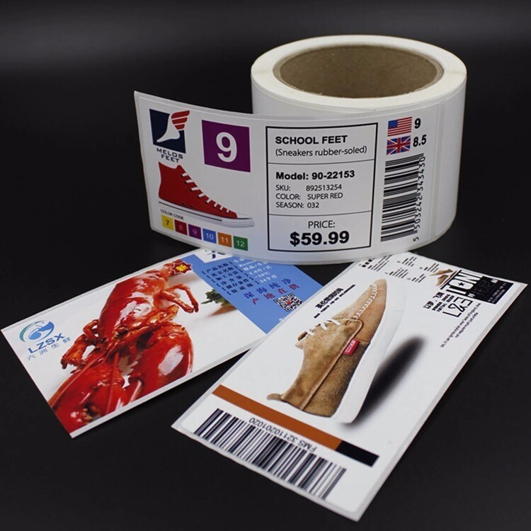 Custom private brand label, self adhesive packing label matte pp sticker