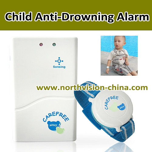 wristband transmitter swimming pool safety alarms with anti-lost alarming