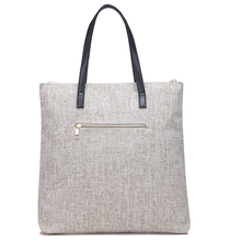 shopping jute bags with leather handles