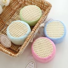 Sisal hemp Mesh Body Bath Sponge soft sisal shower puff mesh sponge