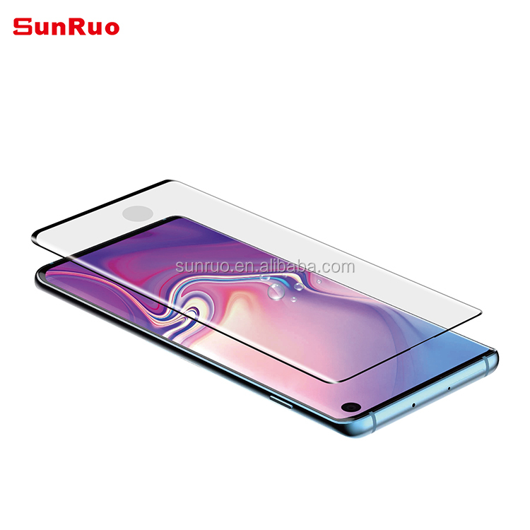 3D Curved full cover Tempered Glass Screen Protector with fingerprint workable for Galaxy S10 S10+ S10 5G