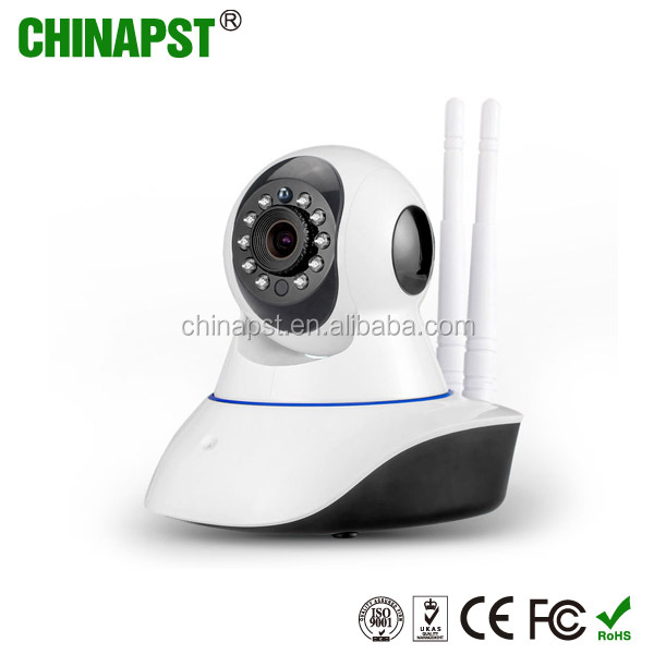 HD night vision h.264 sd card storage DOUBLE wifi p2p ip camera with speaker PST-G90-IPC-G