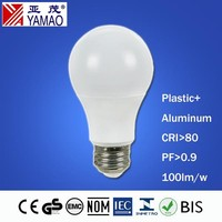 Yamao CE RoHs EMC LVD Approval Indoor Light Warm White A60 LED Bulb E27 9W