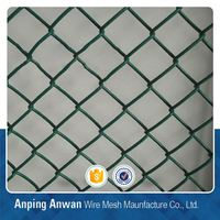 cheap plastic pvc coated chain link fence for road