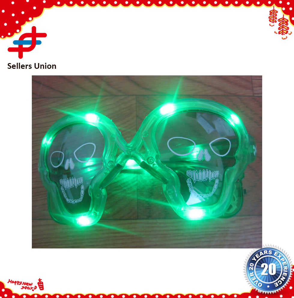 Light up skull led party sunglass for Christmas, Holloween, Happy new year