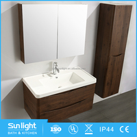 Chinese Classical Double Sinks Bathroom Cabinets With Granite Countertops
