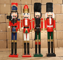 2017 Large size 1.8 Meter christmas wooden nutcrackers for home decor