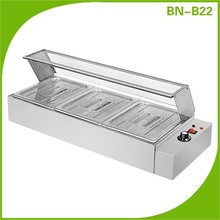 BN-B22 3 commercial buffet bain marie, inox steel hot food bain marie, buffet food warmer