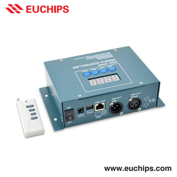 Quality First, Service Upmost Shanghai Euchips free software remote control dmx512 12VDC XLR-3 / RJ45 rgb dmx controller