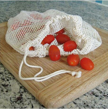 Organic Eco Drawstring Cotton Mesh Produce Bag for packing