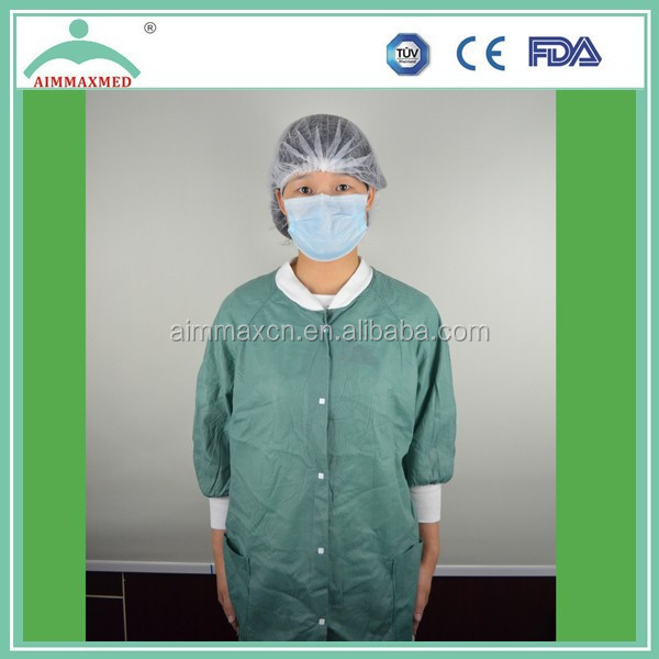 Top health medical supplies lab coat non woven disposable