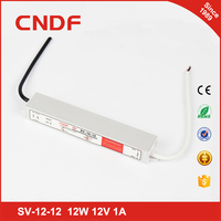 China supplier CNDF waterproof smps SV-12-12 12w 12volt constant Voltage led driver power supply IP67