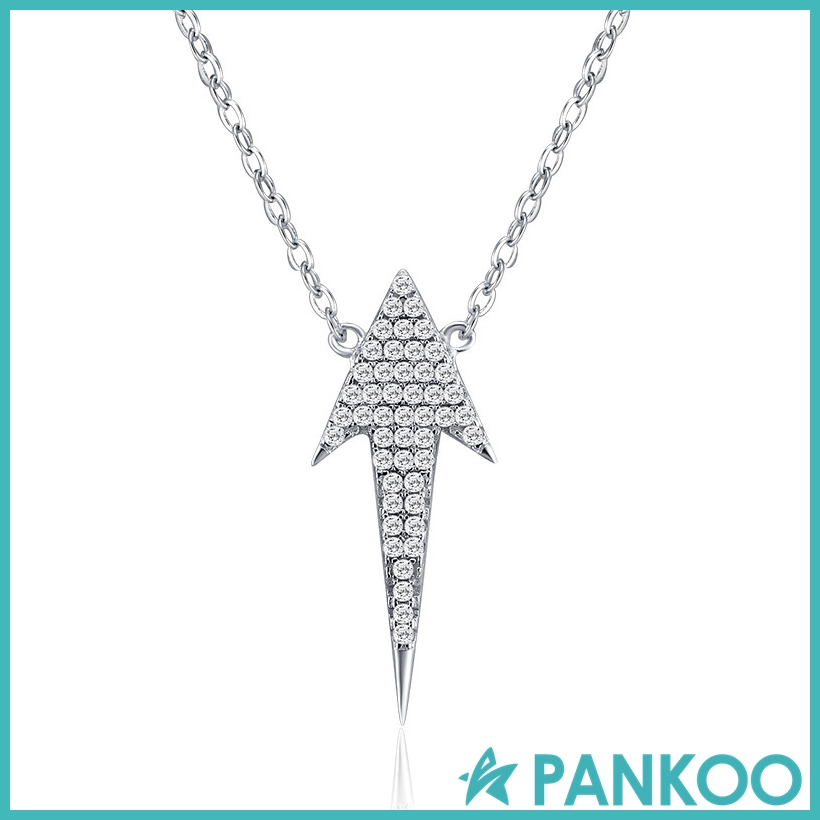 Fashion Jewelry 925 Sterling Silver Diamond Arrowhead Pendant