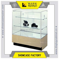 2015 Free Standing Modern Display Wooden Glass Jewelry Display Cabinet