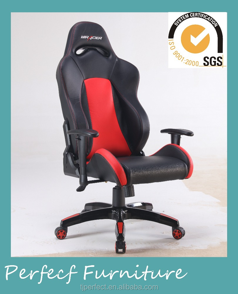 black and red commercial computer gaming chair racing